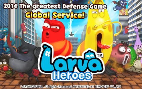 بازی اندروید کرم قهرمان - Larva Heroes: Lavengers 2017