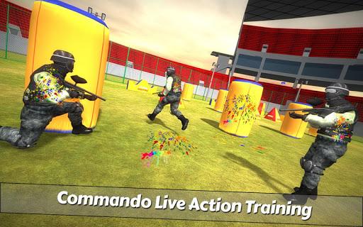 بازی اندروید تیرانداز پینت بال - PaintBall Shooting Arena3D : Army StrikeTraining