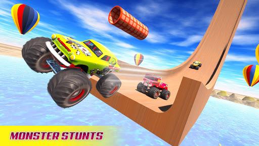 بازی اندروید شاهکار مسابقه ماشین مگا رمپ در جاده های غیر ممکن - Mega Ramp Car Racing Stunts 3D - Impossible Tracks