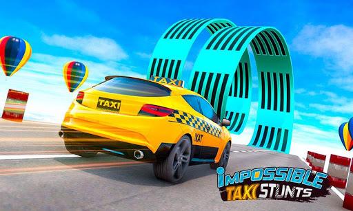 بازی اندروید شیرین کاری تاکسی - بازی ماشین مسابقه - Taxi Car Stunts 3D: GT Racing Car Games