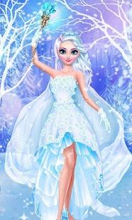 بازی اندروید سالن آرایش ملکه یخی - Ice Queen - Magic Frozen Salon