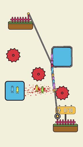 بازی اندروید طناب نجات - پازل بی نظیر - Rope Rescue! - Unique Puzzle
