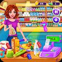 سوپرمارکت خرید مواد غذایی دختران