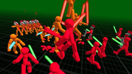 بازی اندروید نبرد جنگجویان استیکمن - Stickman Simulator: Battle of Warriors