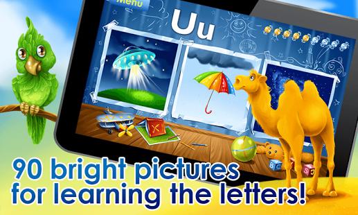 بازی اندروید یادگیری الفبای لاتین - ABC for kids – learn Alphabet