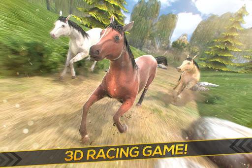 بازی اندروید نژاد اسب وحشی - Wild Horses Race Field