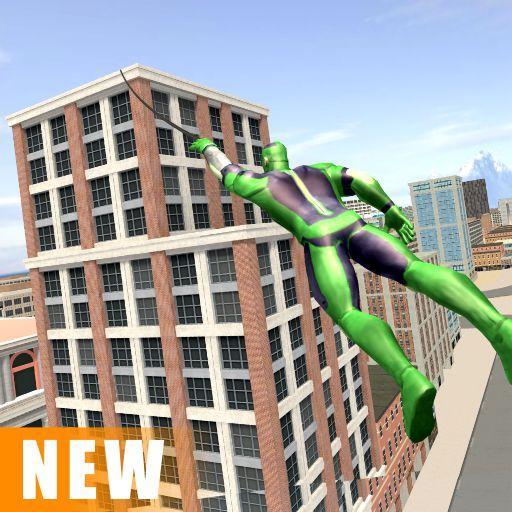 بازی اندروید طناب سوپر قهرمان عنکبوتی - جهان باز گانگستر شهر - Miami Rope Hero Spider Open World City Gangster