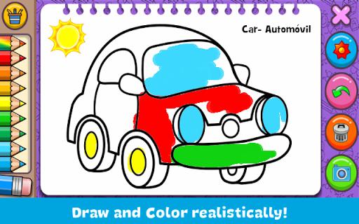 بازی اندروید رنگ آمیزی و آموختن - Coloring & Learn