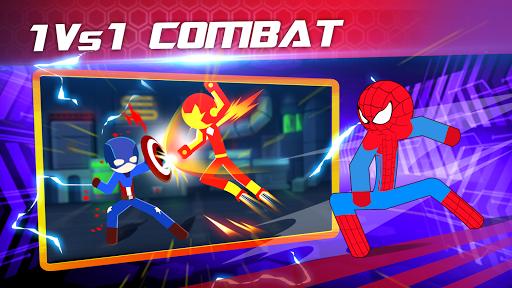 بازی اندروید مبارزه سوپر قهرمان استیکمن - Super Stickman Heroes Fight