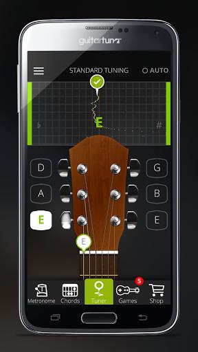 نرم افزار اندروید تیونر گیتار - Guitar Tuner Free - GuitarTuna