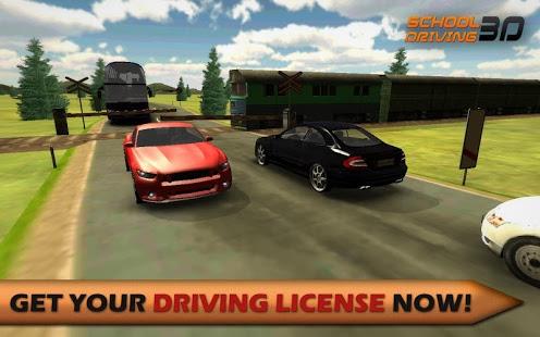 بازی اندروید آموزشگاه سه بعدی رانندگی - School Driving 3D