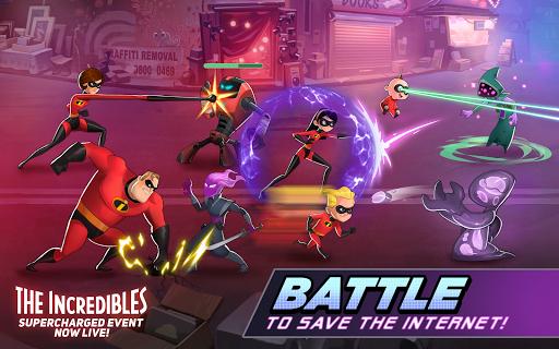 بازی اندروید قهرمانان دیزنی - حالت نبرد - Disney Heroes: Battle Mode