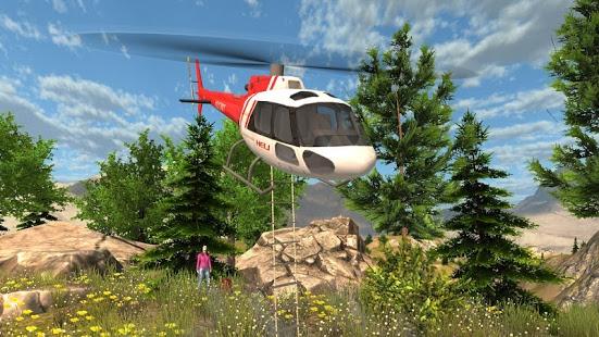 بازی اندروید شبیه ساز هلیکوپتر نجات - Helicopter Rescue Simulator