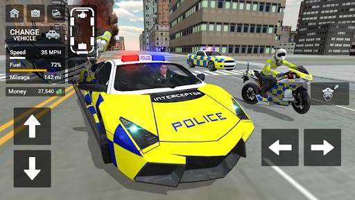 بازی اندروید رانندگی خودرو پلیس - موتورسیکلت سواری - Police Car Driving - Motorbike Riding