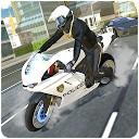 راننده موتورسیکلت پلیس شهر