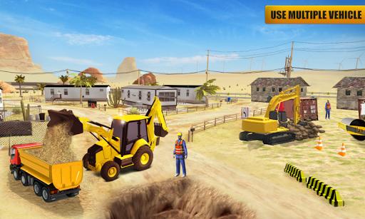 بازی اندروید سازنده سنگین ساخت و ساز - Heavy Construction Mega Road Builder