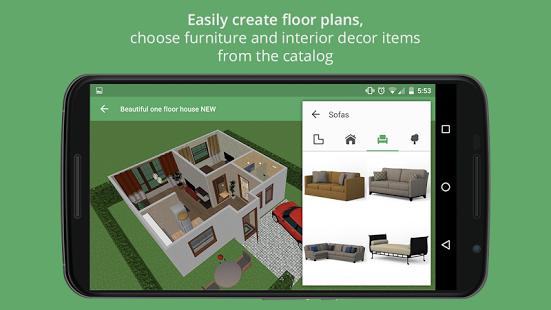 نرم افزار اندروید نقشه کش - طراحی منزل - Planner 5D - Interior Design