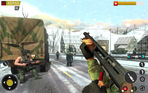 بازی اندروید تیراندازی رایگان جنگ جهانی  - American World War Fps Shooter Free Shooting Games