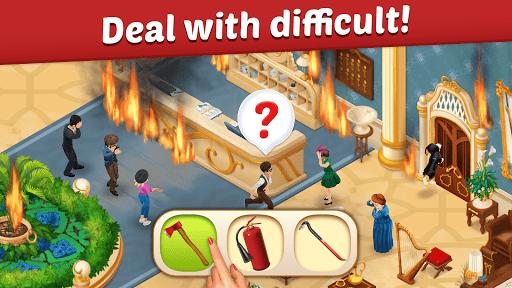 بازی اندروید نوسازی هتل خانوادگی  - داستان عشق تطبیق - Family Hotel: Renovation & love storymatch-3 game