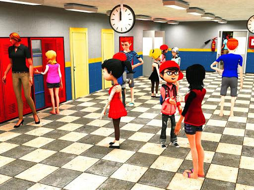 بازی اندروید شبیه ساز دبیرستان مجازی - بازی های مدرسه - Virtual High School Simulator - School Games 3D