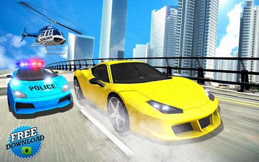 بازی اندروید اتومبیل رانی پلیس - سرقت از بانک - Cops Car Racing & Bank Robbery