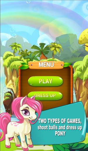 بازی اندروید پونی تیرانداز حباب - Pony Bubble Shooter DressUp