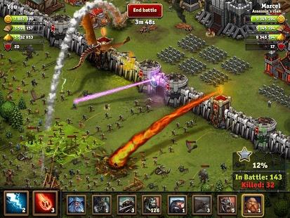 بازی اندروید حمله پادشاهی - Throne Rush