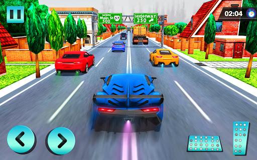 بازی اندروید مسابقه اتومبیلرانی در ترافیک سریع بزرگراه - Car Racing in Fast Highway Traffic