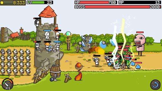 بازی اندروید گسترش قلعه - Grow Castle