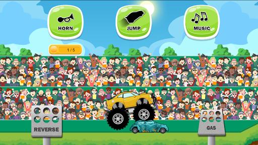بازی اندروید بازی کامیون هیولا برای کودکان و نوجوانان - Monster Truck Game for Kids