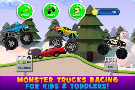 بازی اندروید وانت هیولای کودکان 2 - Monster Trucks Game for Kids 2