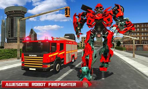 بازی اندروید کامیون آتش نشانی ربات - جنگ های رباتی - Fire Truck Real Robot Transformation: Robot Wars