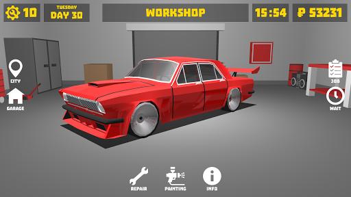بازی اندروید گاراژ - شبیه ساز مکانیک اتومبیل - Retro Garage - Car Mechanic Simulator