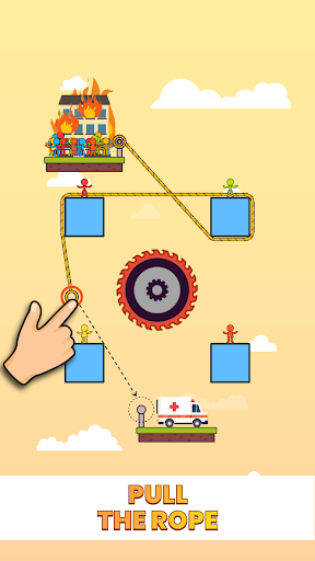 بازی اندروید طناب نجات - Rope Rescue