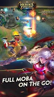 بازی اندروید تکامل قهرمانان - Heroes Evolved