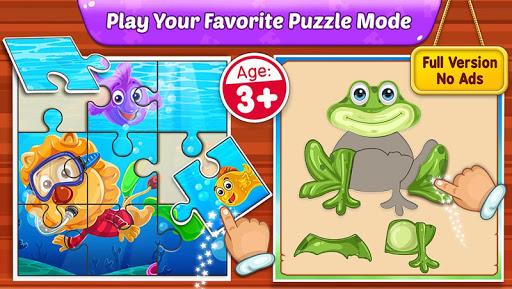 بازی اندروید پازل کودکان - Puzzle Kids - Animals Shapes and Jigsaw Puzzles