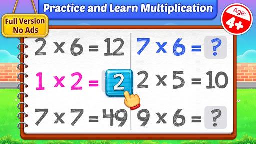 بازی اندروید ضرب کودکان - جداول ضرب ریاضی - Multiplication Kids - Math Multiplication Tables