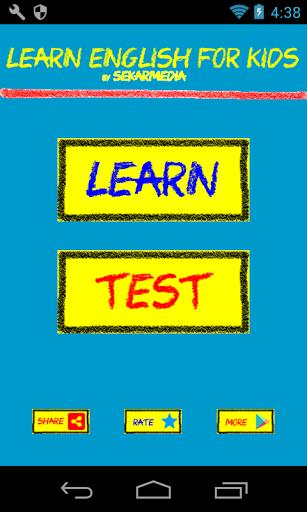 بازی اندروید انگلیسی برای کودکان - Learn English For Kids