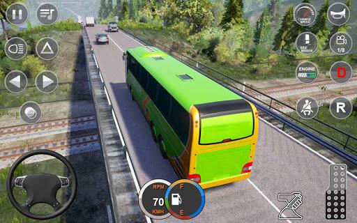 بازی اندروید شبیه ساز رانندگی اتوبوس اروپا - Euro Bus Driving Simulator : Bus Simulator 2020