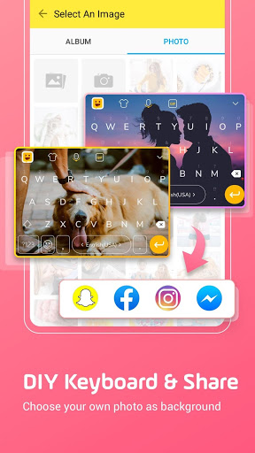 نرم افزار اندروید فیس موجی - Facemoji Emoji Keyboard:DIY, Emoji, Keyboard Theme