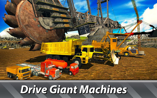 بازی اندروید شبیه سازماشین سنگین معدن - Heavy Machines Simulator - drive industry trucks!