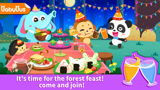 بازی اندروید جشن جنگل کودک پاندا - سرگرمی مهمانی - Baby Panda's Forest Feast - Party Fun