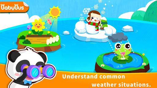 بازی اندروید یادگیری آب و هوا پاندا کوچولو - Baby Panda's Learning Weather