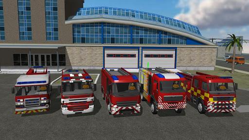 بازی اندروید کامیون آتش نشانی - Fire Engine Simulator