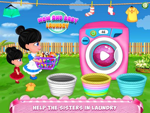 نرم افزار اندروید مادر بچه - شستشو لباس کودک - Mom Baby Clothes Washing Laundry