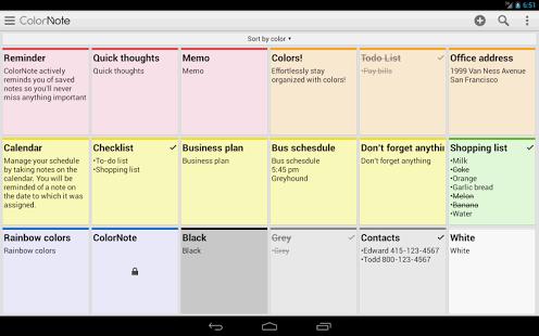 نرم افزار اندروید یادداشت رنگی - ColorNote Notepad Notes