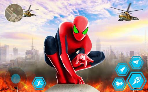 بازی اندروید طناب قهرمان عنکبوتی -ماجراجویی در شهر میامی - Spider Rope Hero Man: Miami Vise Town Adventure