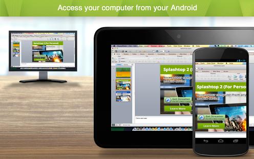 نرم افزار اندروید اسپلش تاپ - کنترل کامپیوتر - Splashtop 2 Remote Desktop