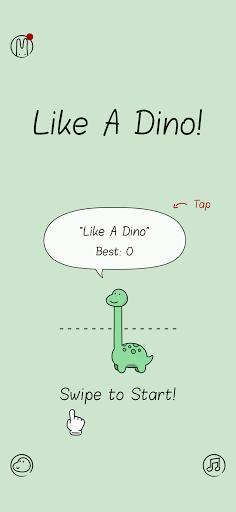 بازی اندروید مثل یک دینو - Like A Dino!