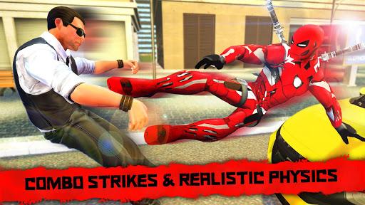 بازی اندروید سوپر قهرمان نینجا شهر - Superhero Iron Ninja Battle: City Rescue Fight Sim